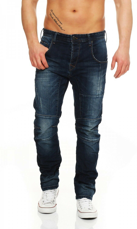 Big SEVEN-Jayden-Dark aged-Regular Fit-XXL Jeans Uomo Blu Pantaloni