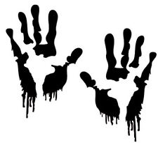 2 x Zombie Hand Aufkleber jdm tuning Decal Sticker Decals 12 cm
