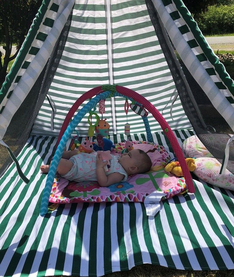 Deluxe Portable & Breathable Kids Teepee Play Tent Sun Shelter 53x53x55 (LxWxH)