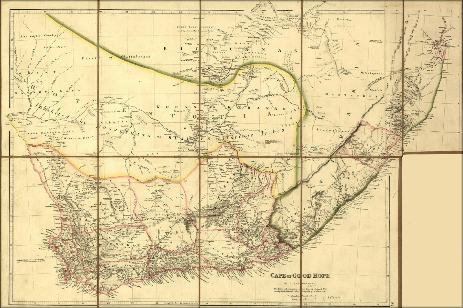 Poster, Many Map Größes; Map Many Of Cape Of Good Hope 1842 15bd3b ...