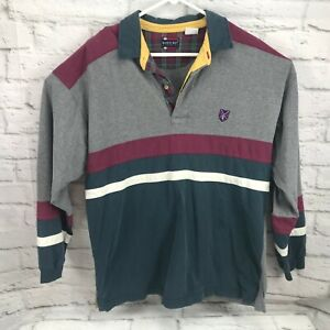 a5ab38c13 Bugle Boy Classics men's shirt polo color block long sleeve XL rugby ...