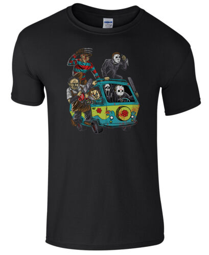 Mystery Machine Halloween T-Shirt Men/'s Cheap Fancy Dress Costume