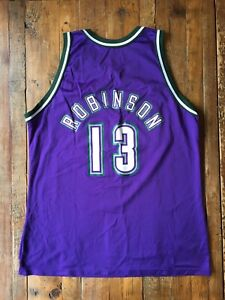 new arrival 23b59 c8bbd Details about Milwaukee Bucks - Vintage Purple #13 G. Robinson Jersey - OG  Champion - Size 48