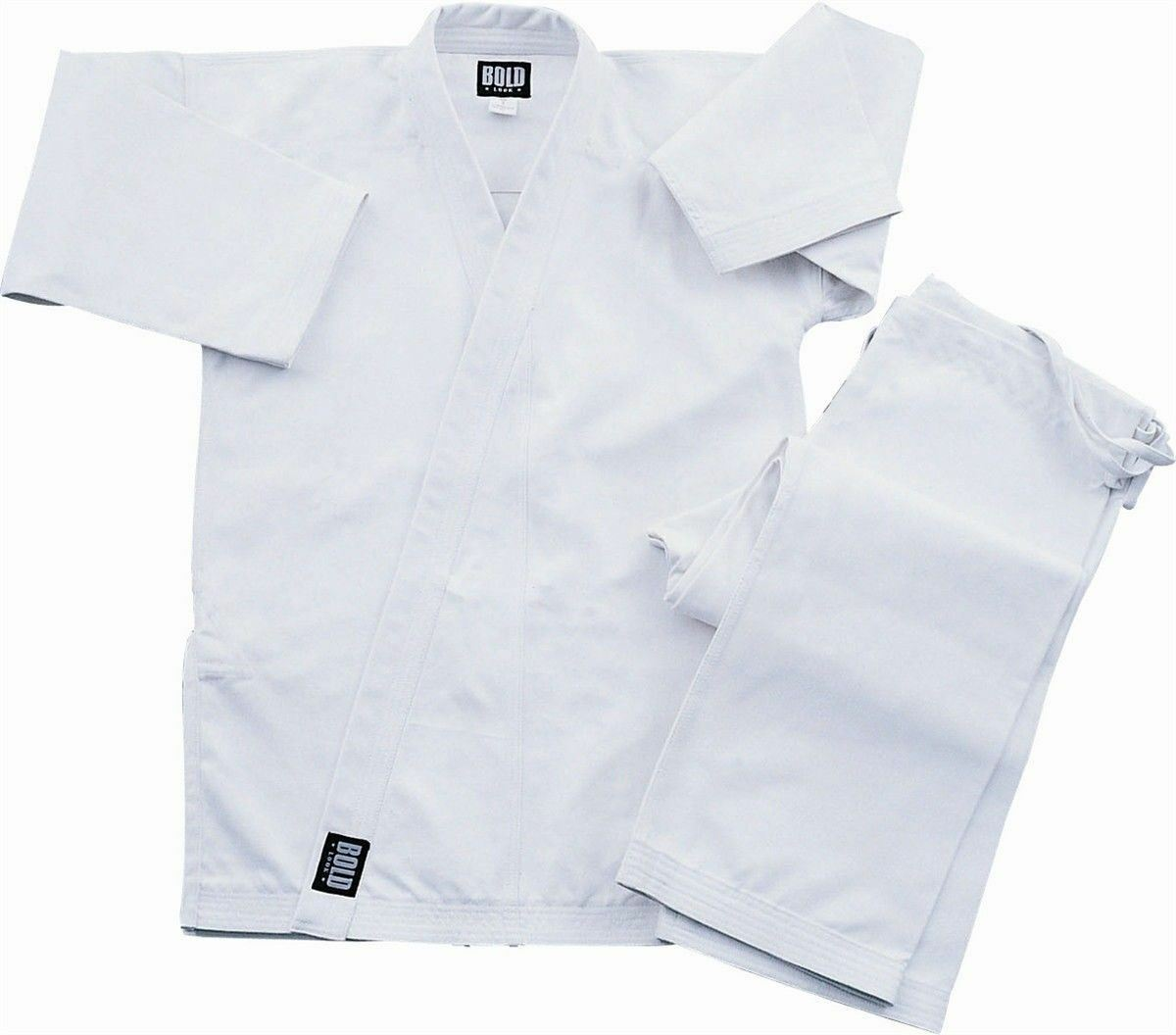 White Super Heavyweight 14oz Brushed Cotton Karate Uniform  by Bold 500w  wholesale prices
