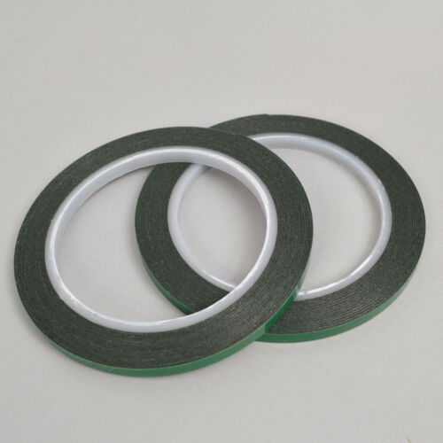 2 Rolls 6mm Black Super Strong Permanent Double Sided Self Adhesive Foam Tape