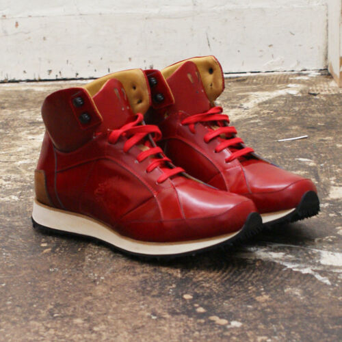 405 'vonnegut' Trainers Genuine Red Mens Rrp£ MrHare Nuovo ED2I9H