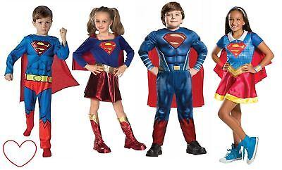 Disinteressato Ragazzi Ragazze Supereroe Costume Fumetto Supergirl Superman Batman Book Day-mostra Il Titolo Originale
