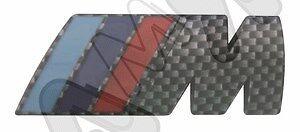 CARBONIO-PER BMW-DIMENSIONE 7,3 x 2,8 cm 0050757212 COD SCRITTA POSTERIORE M