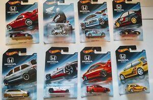 Hot-Wheels-Honda-70th-Anniversary-set-039-85-CRX-Civic-EF-S2000-Civic-SI-You-Pick