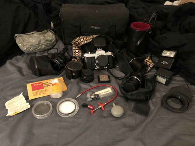 Pentax SP500 SLR Film Camera with 5 Lenses PLUS Accesories!