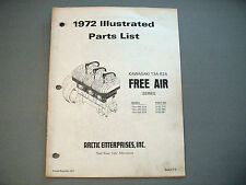 1972 Vintage Arctic Cat / Kawasaki Engine Parts Manual T3A-R2A 400-440-650cc EXT