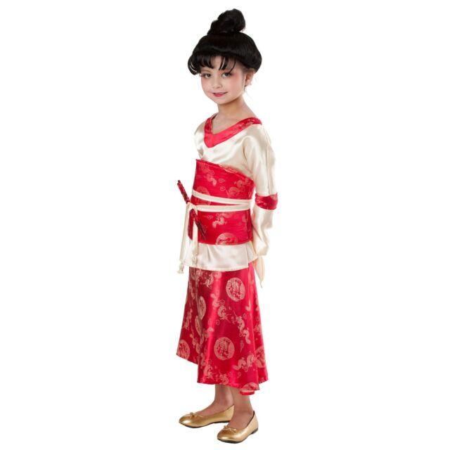 Girl KIMONO PRINCESS PARADISE Costume Dragon Dress + Obi Child Large XL 12 Mulan  sc 1 st  eBay & Girl KIMONO PRINCESS PARADISE Costume Dragon Dress + Obi Child Large ...