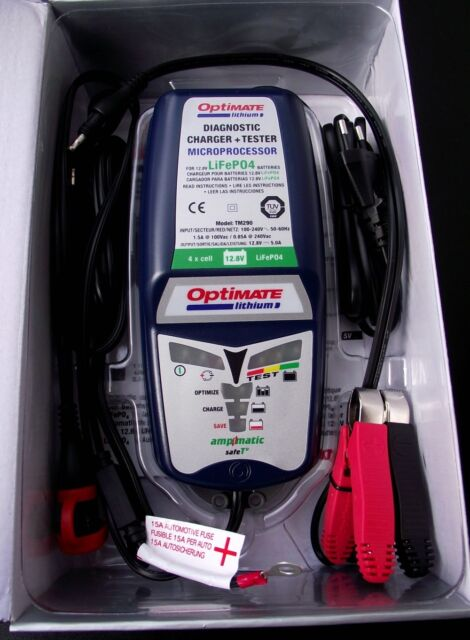 Optimate Batterie Chargeur - 12V,5A - LiFePO4 Lfp , TM290, Neuf