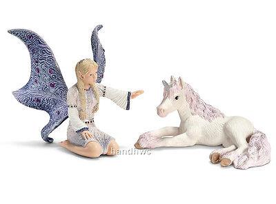Schleich 70424 Lindariel Elf with Unicorn Bayala Toy Horse Model Figurine - NIP