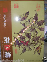 """Butterfly & Flowers Tattoo Flash Art China A3 Book Sketch 16"""" Chinese Style"""