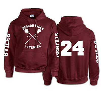 Beacon Hills Lacrosse logo wolf hoodie TeenWolf Stiles Stilinski teen hoody top