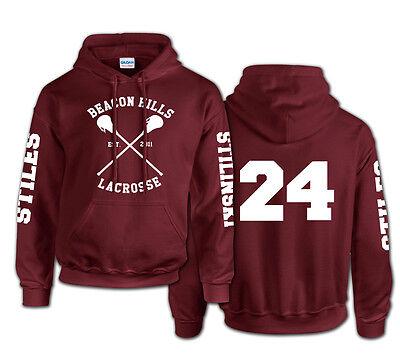 Beacon Hills Lacrosse logo wolf hoodie TeenWolf Stiles Stilinski teen hoody top