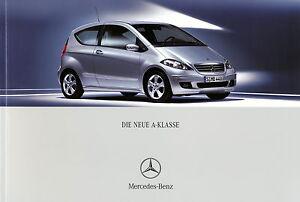 Mercedes-A-Klasse-Prospekt-2005-6-05-25-4-05-Autoprospekt-brochure-Katalog-Auto
