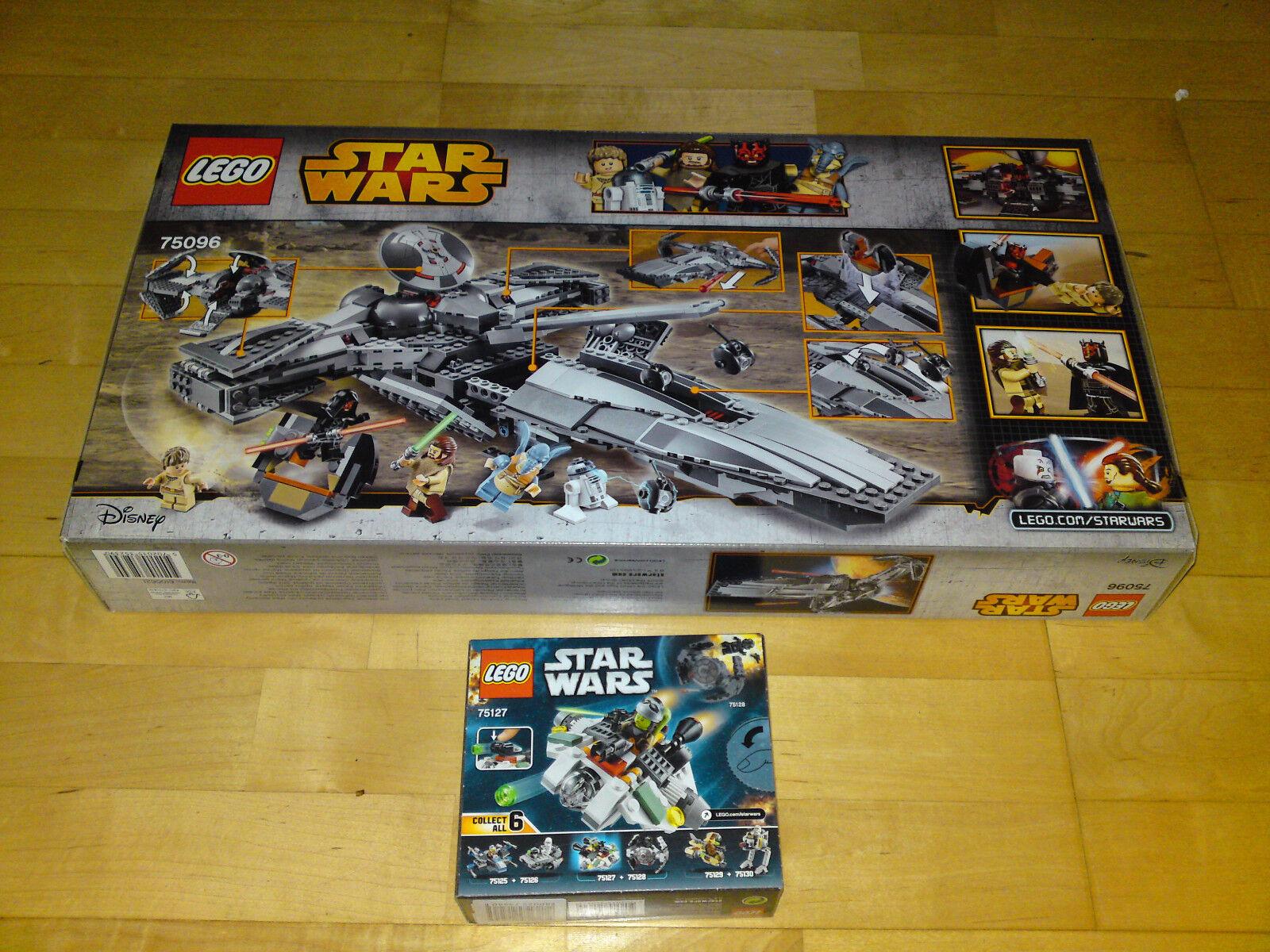 LEGO StarWars Sith Infiltrator (75096) und The Ghost (75127) neu neu neu OVP 54388c