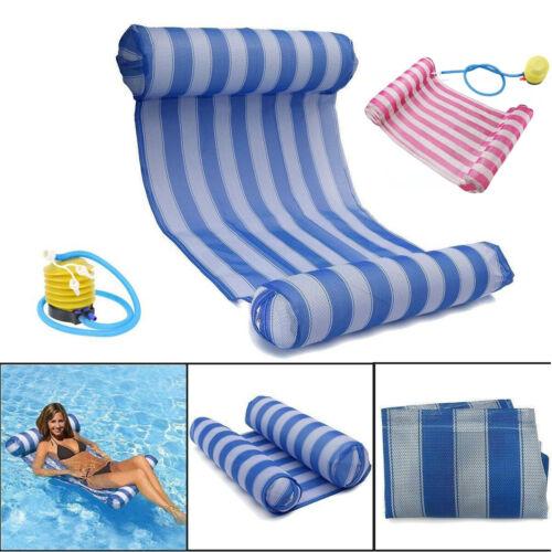 Wasserhängematte pool Aufblasbare Luftmatratze Schwimmliege Badematratze + Pumpe