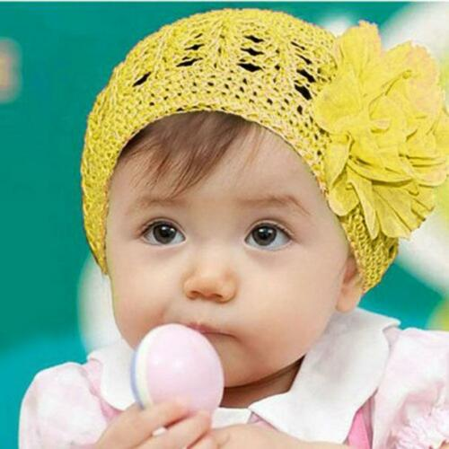 Kids Toddler Baby Girl Flower Hair Band Headband Headwear Photo Prop Beanie Hat