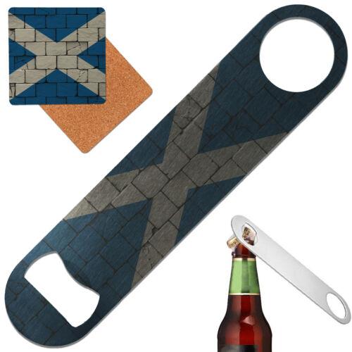 SCOTLAND flag Stainless Steel Bar Blade Bottle opener Metal Speed Opener