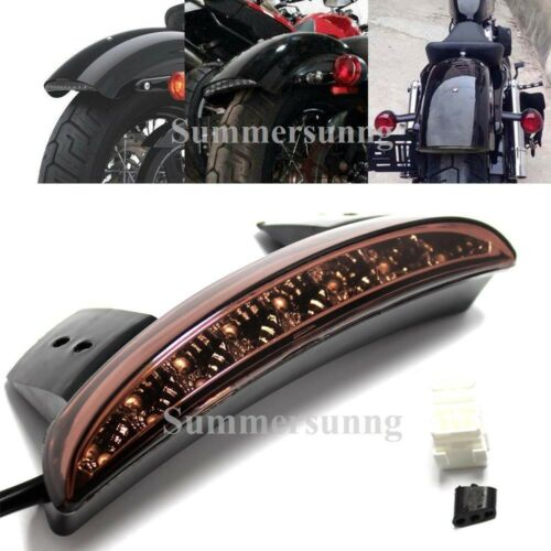 Red LED Motorcycle Turn Signal Brake License Plate Integrated Tail Light 12V US