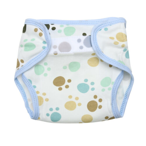Baby Infants Breathable Soft Cotton Diaper Pants Reusable Cartoon Nappy #SO7