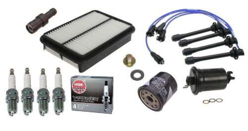 Spark Plug-PCV-Filters Kit Toyota 4Runner Truck T100 2.7L 3RZ OEM NGK Wires