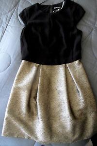 Esprit Festliches Kleid Konfirmation Hochzeit Abiball Gr 36 Schwarz Gold Neu Top Ebay
