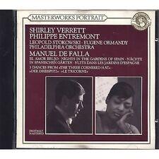 MANUEL DE FALLA SHIRLEY VERRETT PHILIPPE ENTREMONT - CD 1990 NEAR MINT CONDITION
