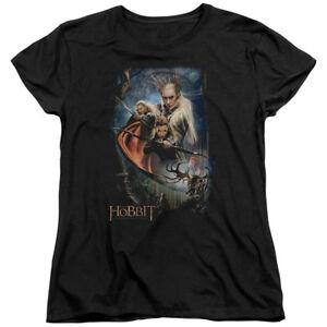 The-Hobbit-Desolation-of-Smaug-Thranduil-039-s-Realm-Legolas-Tauriel-Women-039-s-T-Shirt