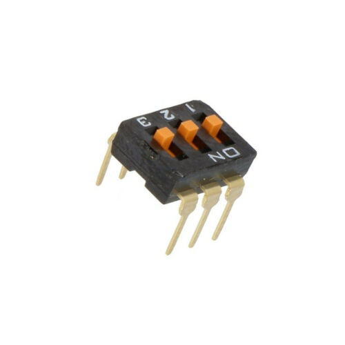 2x a6t-3104 interruptor DIP-Switch número secciones 3 on-off 0,025a/24vdc omron