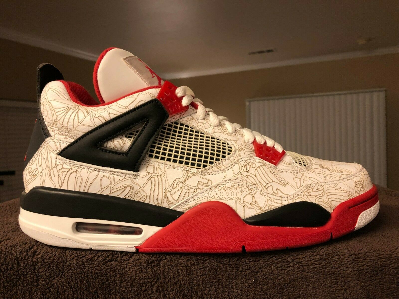 Nike Air Air Air Jordan Retro 4 Laser White DS Size 12 9b1931