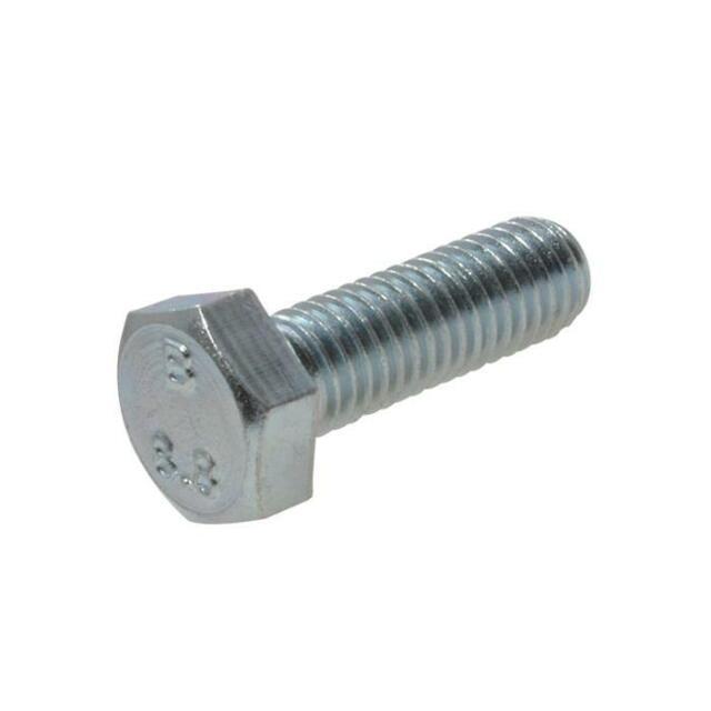 Pack Size 1 Zinc Plate Hex Set M6 (6mm) x 50mm Metric Coarse Class 8.8 Screw