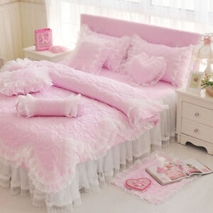Image Is Loading Princess Style Bedding Set 4pc Duvet Cover Bed