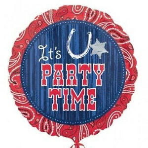 COWBOY-WESTERN-BALLOON-17-034-IT-039-S-PARTY-TIME-WESTERN-OUTBACK-FOIL-BALLOON