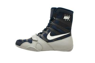 Nike Hyper KO Boxing Boots Boxers Shoes Mens Adults Ring Fight Boots Blue Red