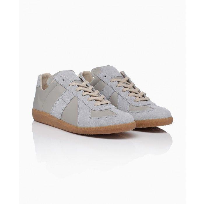 Scarpe casual da uomo  NEW maison martin margiela sneakers S37WS0224 grey olive trainers M22 MADE ITALY