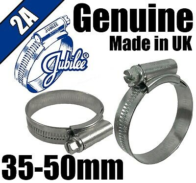 Genuine Jubilee A2 Stainless Steel Clip Hose Pipe Clamp Worm Drive 40mm 55mm 2
