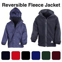 Boys Fleece Reversible Jacket Winter Warm Coat School