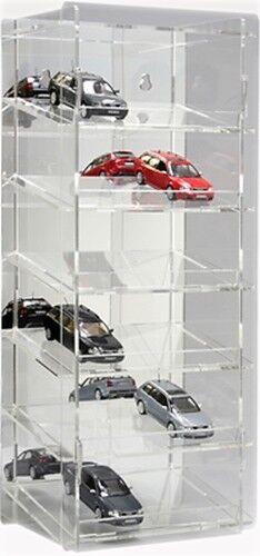 Sora modello di auto-Tower 1:43 con specchiati pannello posteriore per 18 auto