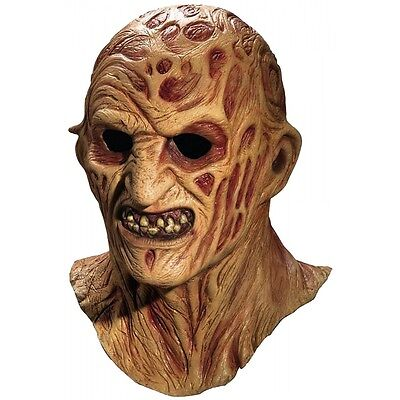 Deluxe Freddy Krueger Mask Adult Men Full Overhead Latex Halloween Costume Acsry