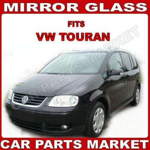For VW Touran 03-09 Right side Aspheric Electric wing mirror glass with plate