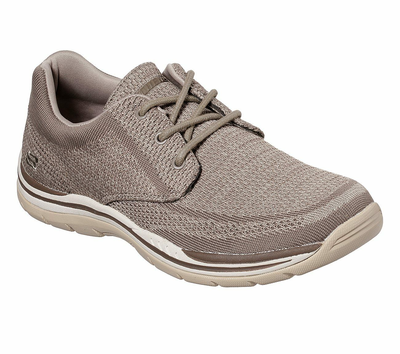 65720 Taupe Skechers shoes Comfort Men Memory Foam Casual Comfort shoes Oxford Soft Woven Knit 0a16a4
