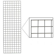 Steel Wire Gridwall Panel In Chrome 2 X 8 Feet