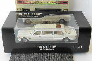 MERCEDES-BENZ-S-CLASS-W126-STRETCH-LIMOUSINE-1990-WHITE-NEO-45356-1-43-LHD