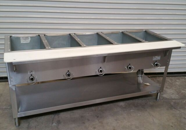 5 well gas steam table duke aerohot db 305 dry bath nsf commercial rh ebay com commercial steam table with sneeze guard commercial steam table heating element
