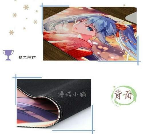 Anime Mouse Pad Mat Vocaloid Hatsune Miku PC Keyboard Mat Game Playmat 70x40cm