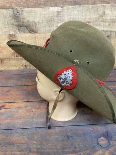 Vintage Akubra Army Green Cowboy Hat Australia Mad